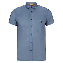 Buy BOSS Orange EsushiE Slim Fit Shirt, Light Pastel Blue Online at johnlewis.com