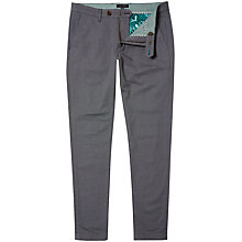 Buy Ted Baker Tegatin Mini Design Cotton Trousers, Grey Online at johnlewis.com