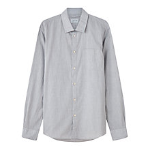 Buy Jigsaw Melange Slim Fit Shirt, Grey Online at johnlewis.com