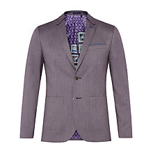 Buy Ted Baker Hearsay Mini Design Suit Jacket, Purple Online at johnlewis.com