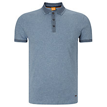 Buy BOSS Orange Papyri Polo Shirt, Light Blue Online at johnlewis.com