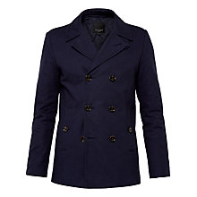 Buy Ted Baker Musgrav Cotton Peacoat, Navy Online at johnlewis.com