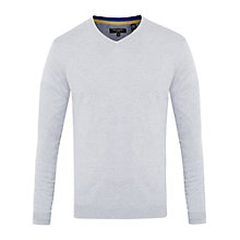 Buy Ted Baker Ninvin Silk Blend Jumper, Grey Marl Online at johnlewis.com