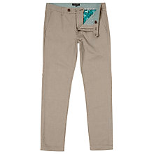 Buy Ted Baker Tegatin Mini Design Cotton Trousers, Taupe Online at johnlewis.com