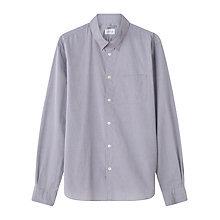 Buy Jigsaw Textured Garment Dye Cotton Slim Shirt, Lake Online at johnlewis.com