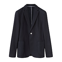 Buy Jigsaw Waffle Cotton Jacket, Navy Online at johnlewis.com