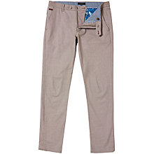 Buy Ted Baker Buggles Oxford Trousers, Taupe Online at johnlewis.com