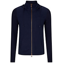 Buy BOSS Orange Avear Knitted Hoody, Dark Blue Online at johnlewis.com