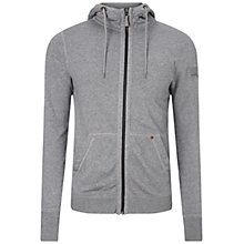 Buy BOSS Orange Ztylo Casual Zip Jacket, Light Grey Online at johnlewis.com