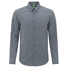 Buy BOSS Green Buster Shirt, Navy Online at johnlewis.com