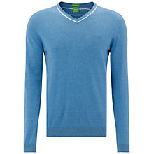 Buy BOSS Green Cyprus Jumper, Open Blue Online at johnlewis.com