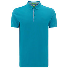 Buy BOSS Green Firenze Polo Shirt, Turquoise/Aqua Online at johnlewis.com