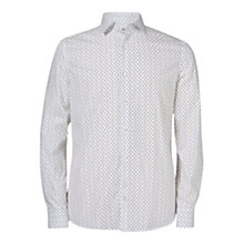 Buy J. Lindeberg Dani Long Sleeve Print Shirt, White Online at johnlewis.com