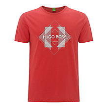 Buy BOSS Green T-shirt, Open Red Online at johnlewis.com