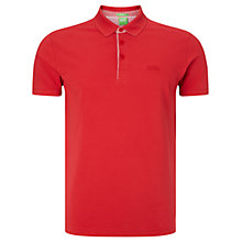 Buy BOSS Green Firenze Polo Shirt, Open Red Online at johnlewis.com