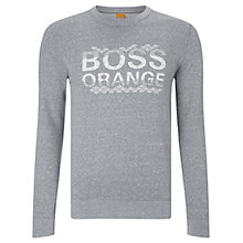 Buy BOSS Orange Wynston Sweater, Light Pastel Grey Online at johnlewis.com
