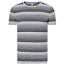Buy BOSS Orange Tomeko T-shirt, Dark Blue Online at johnlewis.com