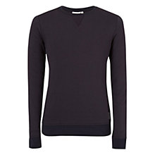 Buy J. Lindeberg Immo Long Sleeve Summer Jumper, Dark Navy Online at johnlewis.com