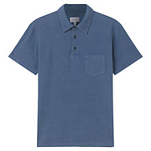 Buy Jigsaw Printed Polo Shirt, Indigo Online at johnlewis.com