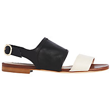 Buy L.K. Bennett Lizzie Flat Leather Sandals Online at johnlewis.com