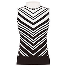 Buy Oasis Chevron Tank Top, Black Online at johnlewis.com