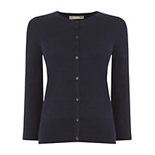Buy Oasis 3/4 Sleeve Crew Neck Cardigan, Navy Online at johnlewis.com