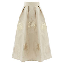 Buy Coast Foiled Jacquard Lyra Skirt, Gold Online at johnlewis.com
