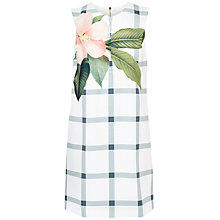 Buy Ted Baker Nayeli Secret Trellis Tunic Dress, White Online at johnlewis.com