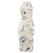 Buy Coast Peony Print Loula Duchess Satin Dress, Multi Online at johnlewis.com