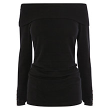 Buy Coast Cecilia Bardot Knit Top, Black Online at johnlewis.com