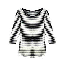 Buy Gerard Darel Linen Striped T-Shirt, Midnight Blue Online at johnlewis.com