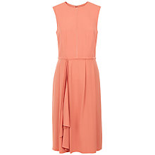 Buy Jaeger Draped Skirt Dress, Coral Pink Online at johnlewis.com