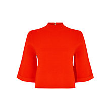 Buy Karen Millen Ribbed Jumper, Red Online at johnlewis.com