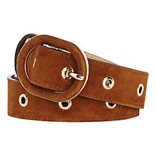Buy Karen Millen Eyelet Suede Belt Online at johnlewis.com