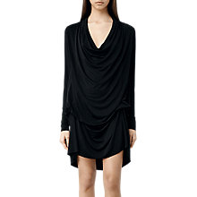 Buy AllSaints Amei Long Sleeve Dress, Black Online at johnlewis.com