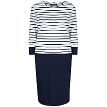 Buy Jaeger Block Stripe Dress, Ivory/Navy Online at johnlewis.com