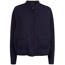 Buy Jaeger Batwing Pocket Detail Shirt, Midnight Online at johnlewis.com