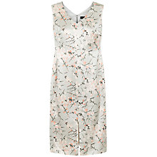 Buy Jaeger Silk Cherry Blossom Dress, Grey Online at johnlewis.com