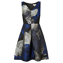 Buy Coast Tahlia Jacquard Dress, Black/Blue Online at johnlewis.com