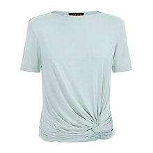 Buy Jaeger Jersey Draped Knot Top, Ice Green Online at johnlewis.com
