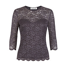 Buy Damsel in a dress Bern Lace Top, Grey Online at johnlewis.com