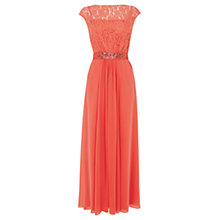 Buy Coast Lori Lee Lace Maxi Dress, Coral Online at johnlewis.com