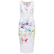 Buy Ted Baker Arienne Hanging Gardens Contrast Dress, Baby Pink Online at johnlewis.com