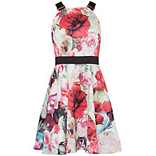 Buy Ted Baker Samra Floral Swirl Skater Dress, Fuchsia Online at johnlewis.com