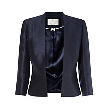 Buy Jacques Vert Petite Edge To Edge Jacket, Navy Online at johnlewis.com
