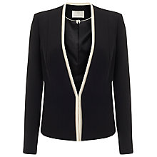 Buy Jacques Vert Contrast Panel Jacket, Black Online at johnlewis.com