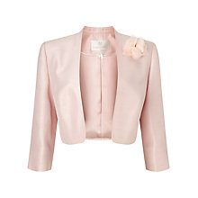 Buy Jacques Vert Stand Collar Bolero, Blossom Pink Online at johnlewis.com