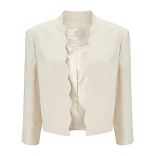 Buy Jacques Vert Scallop Cropped Jacket, Ivory Online at johnlewis.com