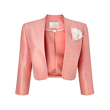 Buy Jacques Vert Stand Collar Bolero, Soft Coral Online at johnlewis.com
