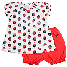 Buy Polarn O. Pyret Baby Ladybird Top and Shorts Set, Red Online at johnlewis.com